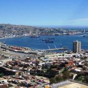 "(""Vista Valparaíso"" by Pablo Trincado from Santiago de Chile, Chile - bahia de valparaiso. Licensed under CC BY 2.0 via Wikimedia Commons - https://commons.wikimedia.org/wiki/File:Vista_Valpara%C3%ADso.jpg#/media/File:Vista_Valpara%C3%ADso.jpg)"