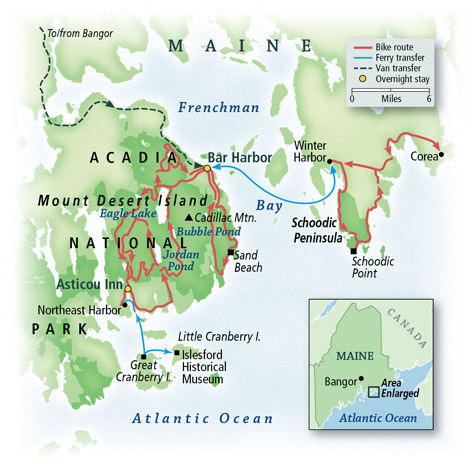 Maine Coast: Purely Acadia Map