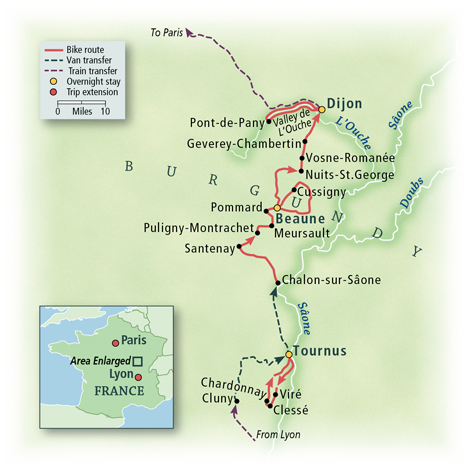 Burgundy: The Wine Route Map