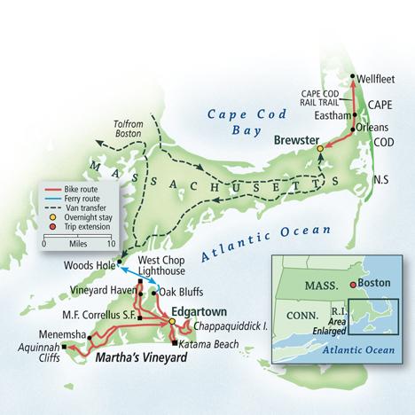 Cape Cod and Martha's Vineyard Bike Tour   VBT Bicycling