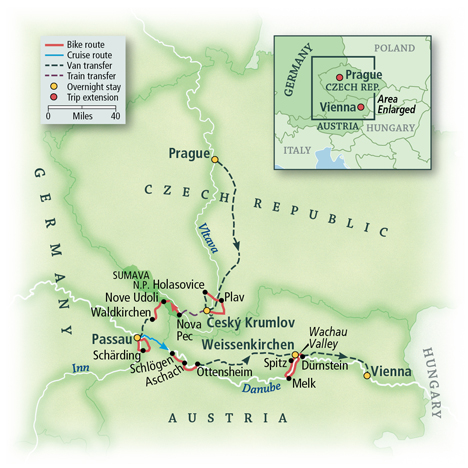 Czech Bike Tour Map