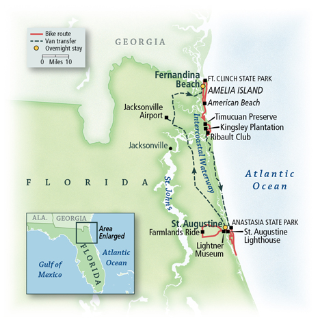 Florida's Historic Coast Map