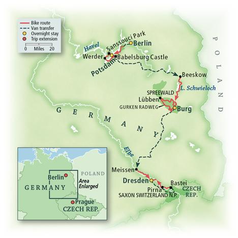 Germany Bike Tour Map