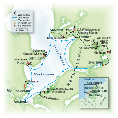 Walk and Sail Tour Map