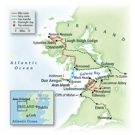 Ireland Galway Guided Bike Tours Vbt Bicycling Vacations
