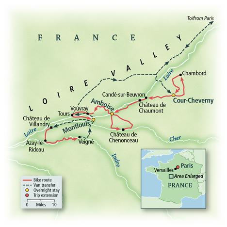 Loire Valley Biking Map