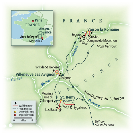 France: Slow Road through Provence Map