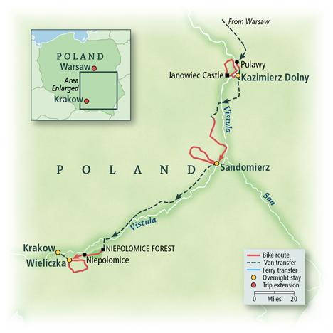 Poland Bike Tour Map