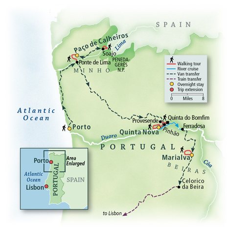 Pathways of Portugal: Walking the Douro Valley Map