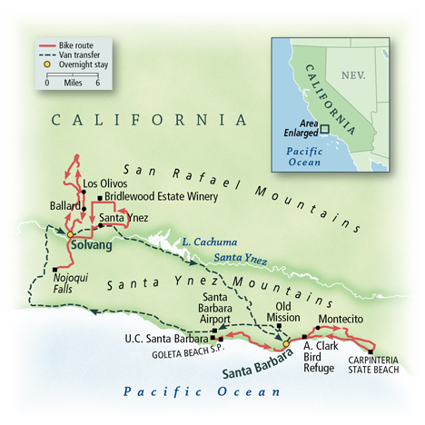 Santa Barbara Biking Tour Map