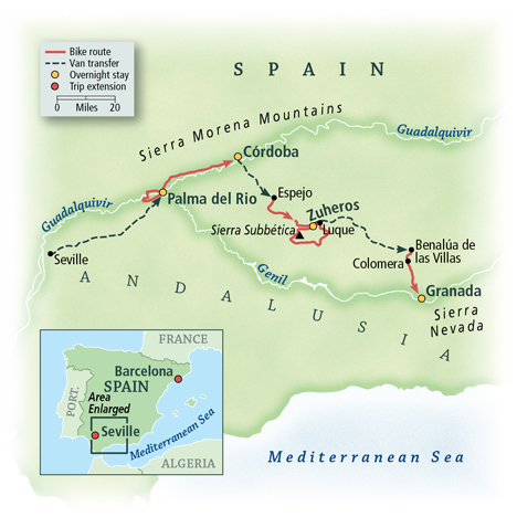 Spain: Under the Andalusian Sky Map