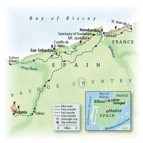 Spain: A Walking Tour of Basque Country Map