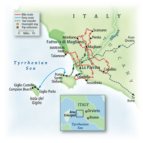 Tuscany by the Sea Map