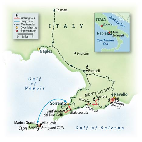 Amalfi Walking Tour Map
