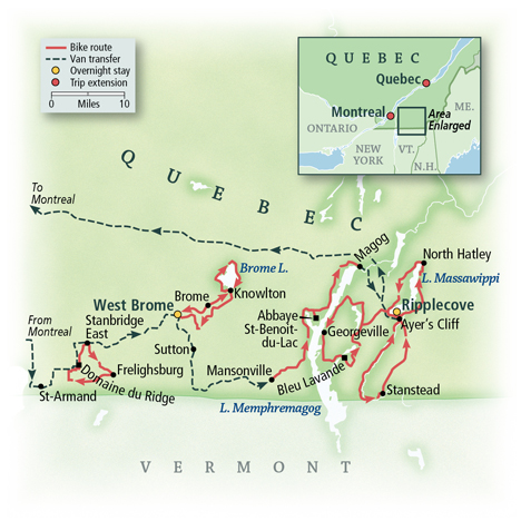 Bicycling Quebec 2019 Map