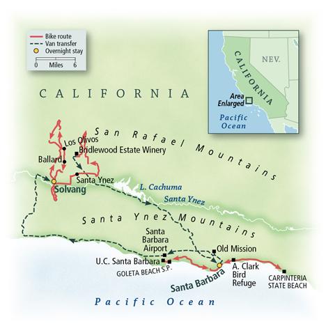 Santa Barbara & The Santa Ynez Valley Map