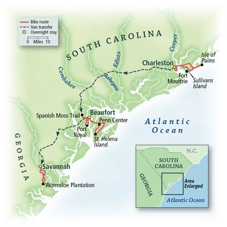 Charleston to Savannah: A Southern Reel Map