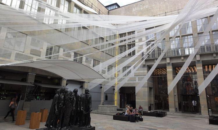 Basel Art Museum Courtyard