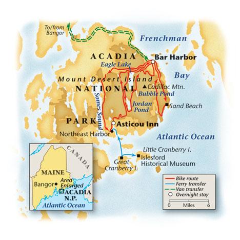 Acadia Bike Tour Map