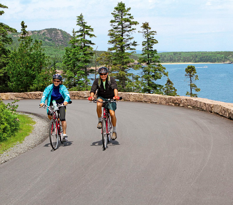 Acadia national park guided bike tours vbt vacations for Bike rides in maine