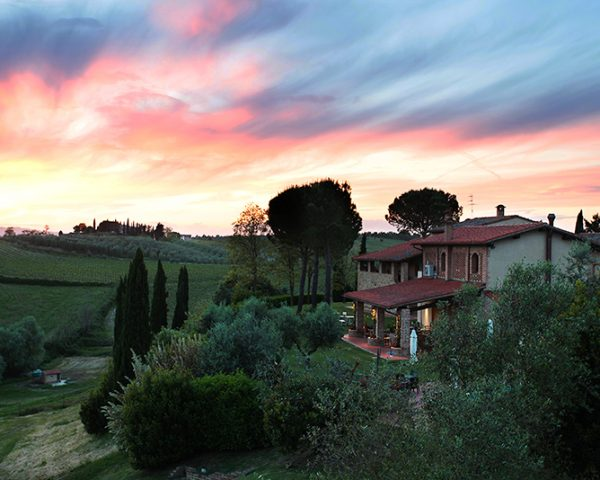 Agriturismo Mormoraia Exterior at Sunset