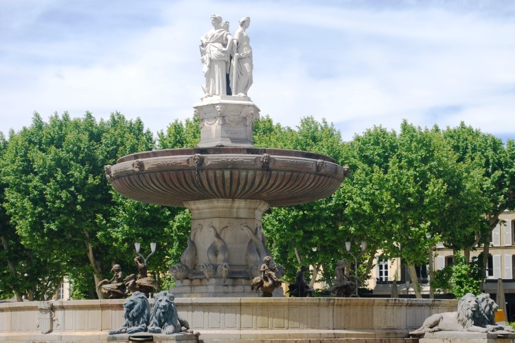 Aix en Provence fountain, France, VBT Biking Tour, Provence