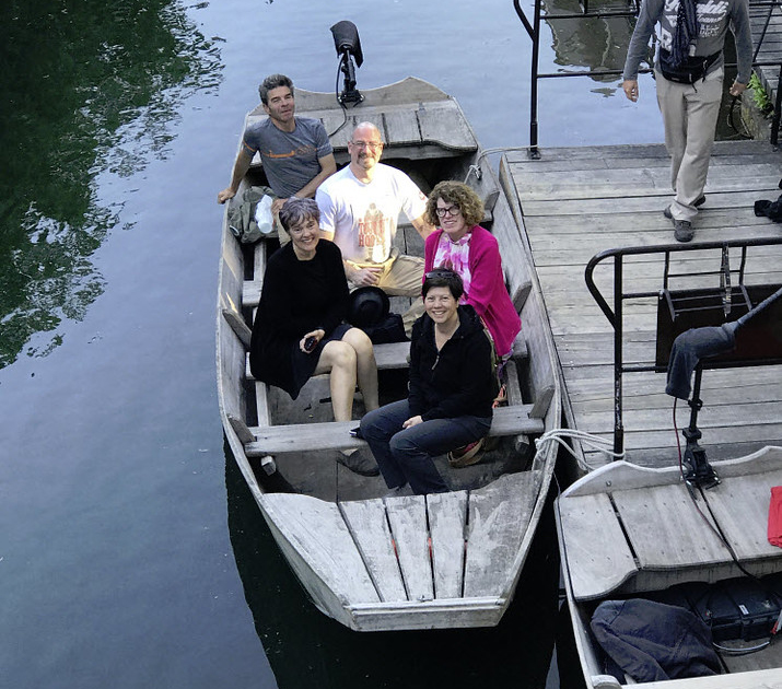 Alsace and the Black Forest: La Route des Vins - Guests on boat for canal ride