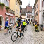 Bikers in the Square - Alsace, France