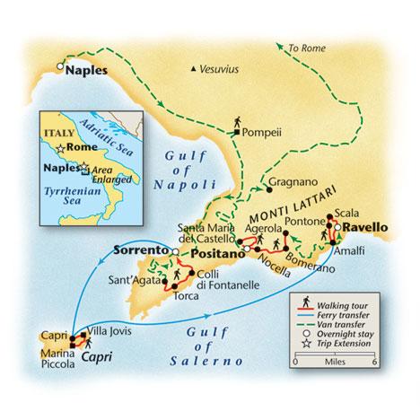 Amalfi Coast Walking Tour Map