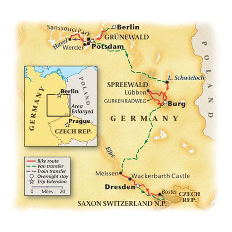 Berlin Dresden Bike Map