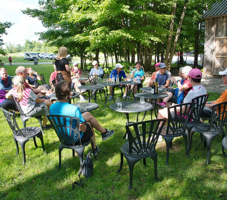 Bicycling Quebec: Best of the Eastern Townships - Guests Lounging