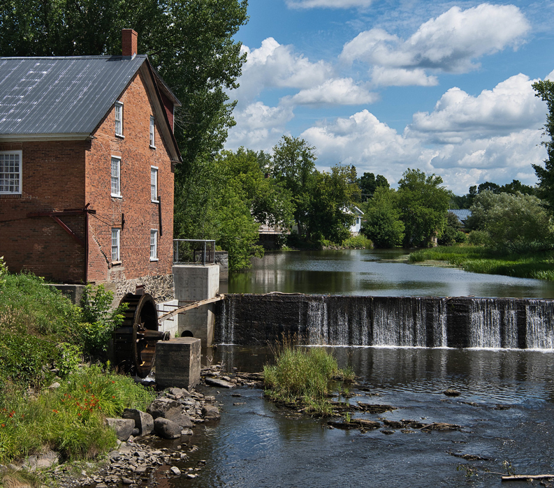 Bicycling Quebec: Best of the Eastern Townships - Waterfall and Mill