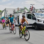 Bicycling Quebec: Best of the Eastern Townships - Guests biking and support vans