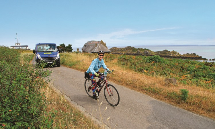 VBT Biker and support van, tips for first-time travelers blog