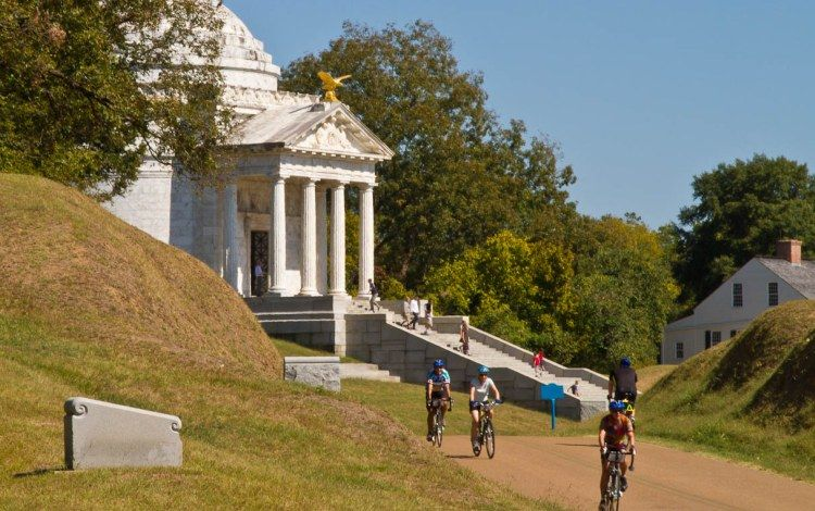 Bikers at Vicksburg Battlefield in Mississippi