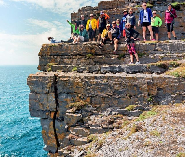 Ireland Bike Group by the sea