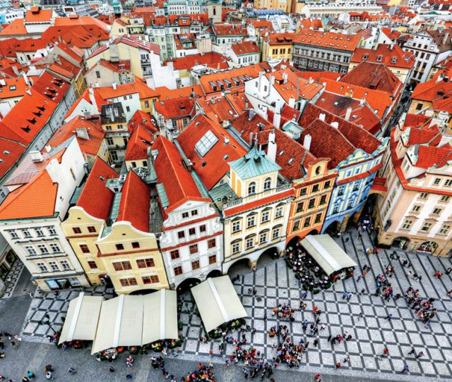 Classic Red Tiled rooves in the Czech Republic