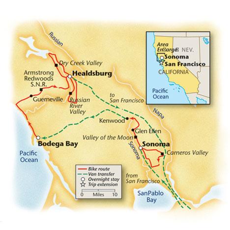 California Bike Tour Map