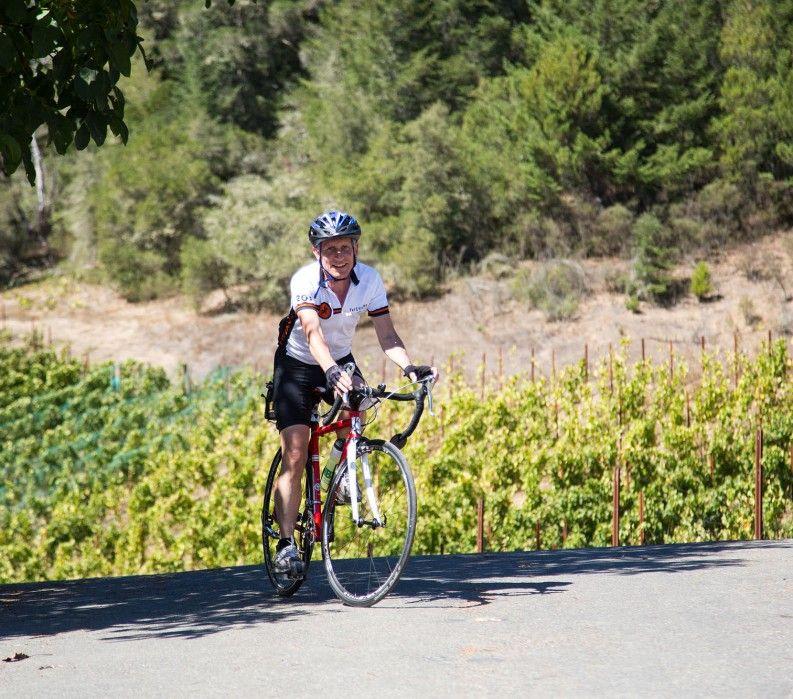 Biking in California wine country
