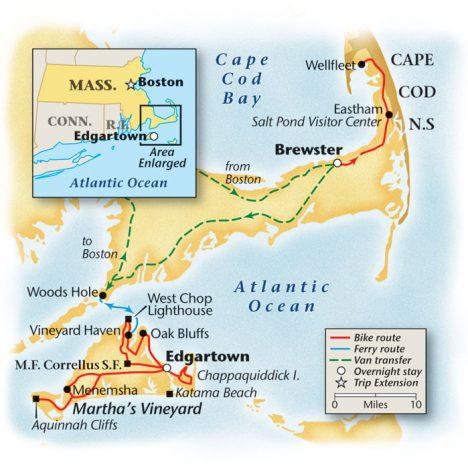 Cape Cod Bike Tour Map