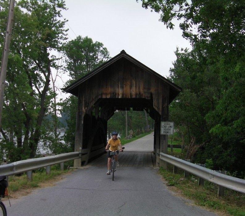 Covered bridge, Lake Champlain Bike Tour VBT