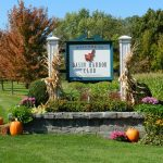 Classic Vermont Biking Tour, Basin Harbor Club sign