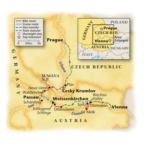 Czech Bike Tour Map