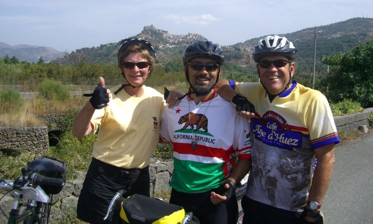 EMF Dick and Marcy with VBT Sicily Trip Leader