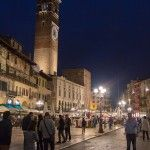 Verona Italy at Night; VBT Bike Tour