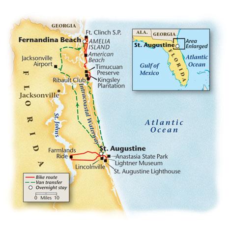 Florida Bike Tour Map