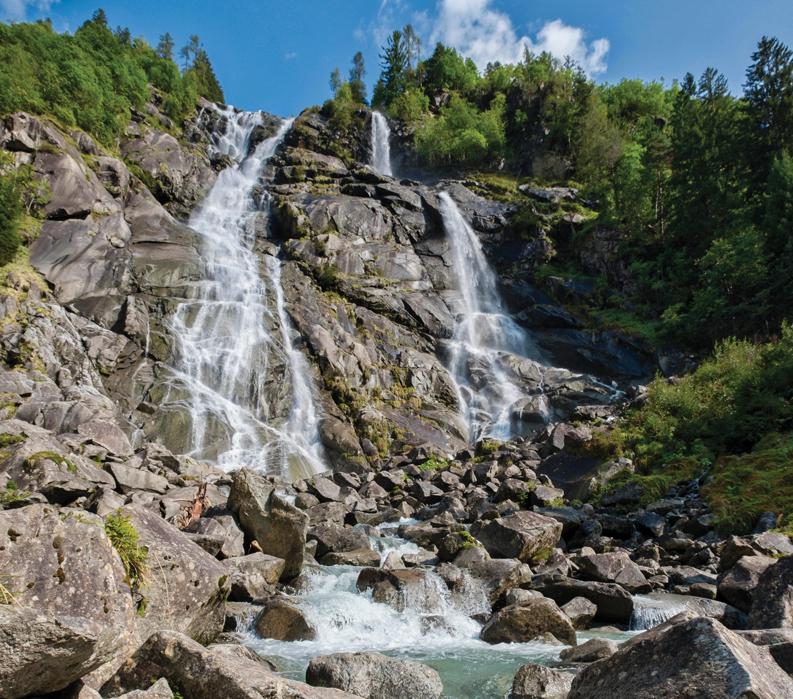 Gateway to the Dolomites: Biking Bolzano to Lake Garda - Waterfall