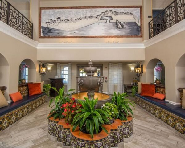 Hilton St. Augustine Historic Bayfront Fountain Lobby