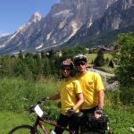 biking couple; VBT Dolomites biking tour