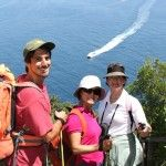 Trip Leader with Guests on Amalfi Coast